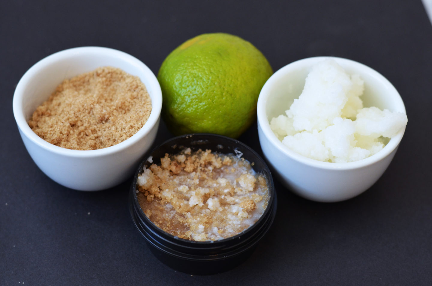 DIY Organic Brown Sugar + Coconut-Lime Lip Scrub